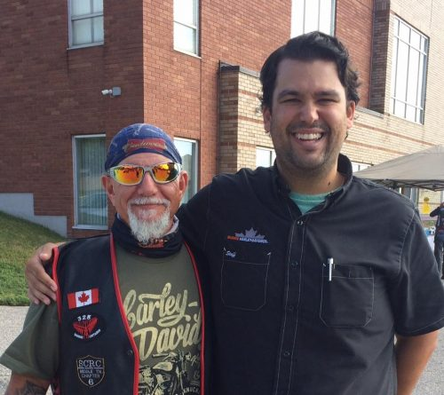 Jeff Tress, President of Southern Cruisers and Kyle Montgomery from Barrie Harley Davidson
